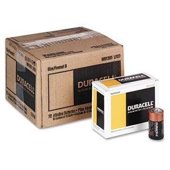 Duracell MN1300 CopperTop Alkaline Batteries, D, 12/BX by DURCEL