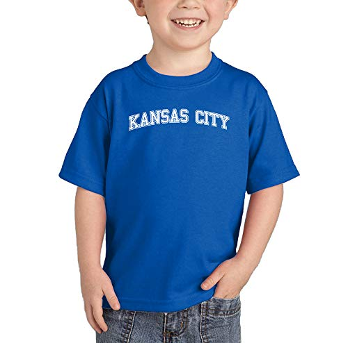 (HAASE UNLIMITED Kansas City - State Proud Strong Pride Infant/Toddler Cotton Jersey T-Shirt (Royal Blue, 24 Months))
