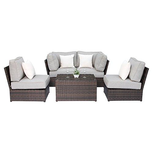 century modern outdoor lucca collection wicker patio resort grade