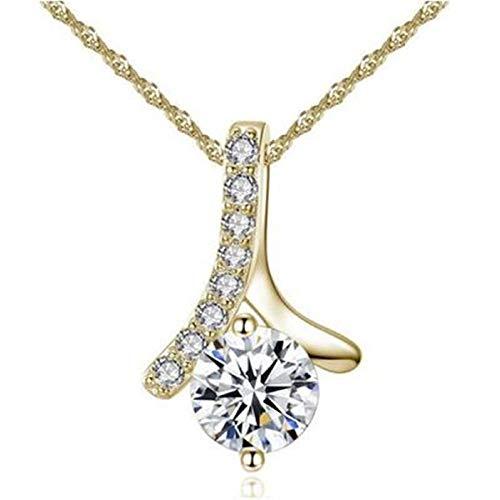 TOPOB 1 Pcs Fashion Necklaces Elegant Herringbone Pendant Jewelry Women Girls Valentines Day Birthday -