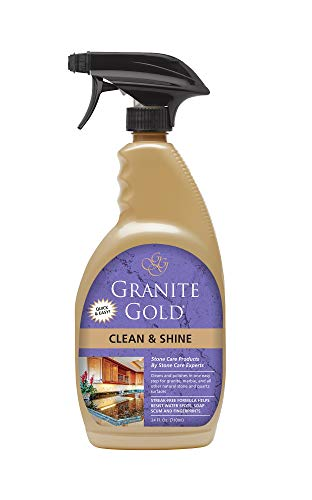 Granite Gold Clean And Shine Spray - Polishes And Deep Cleans Natural Stone Surfaces - 24 Ounces