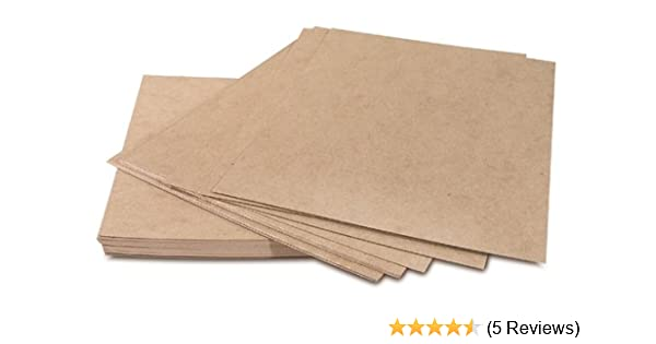"750 pads//case 30 pt Thickness 8 1//2 x 11/"" Kraft Heavy Duty Chipboard Pad"