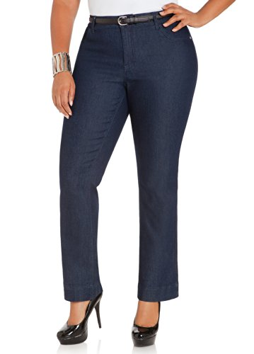 Ashley Stewart Women's Plus Size PET INDIGO BOOTCUT - Size: 18, Color: Indigo