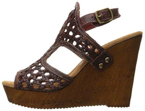 Wine Wedge Women's Sandal Macos Sbicca w1Z7CaqvB