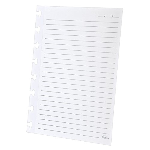Ampad Wide-Ruled Refill Sheets for Ampad Versa Crossover Notebook, 5.5 x 8.5 Inch Size, White, 40 Sheets (25-621)
