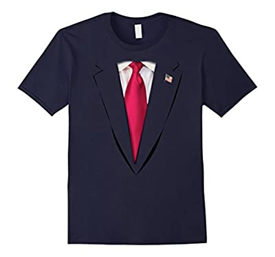 USA President Trump Suit Tshirt Halloween Costume Funny Gift