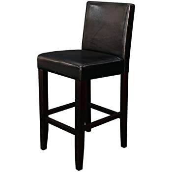Monsoon Pacific Villa Faux Leather Counter Stool Black Set of 2  sc 1 st  Amazon.com & Amazon.com: Clifton Black Leather Counter Stools w/ Chrome ... islam-shia.org