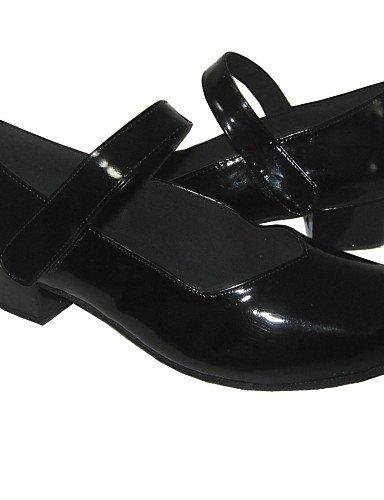 para tacón bajo moderno de Zapatos mujer ShangYi de negros baile qXwFxnAU
