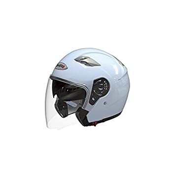 CASCO JET SHIRO SH-414 AVANT BLANCO M (DOBLE VISERA)