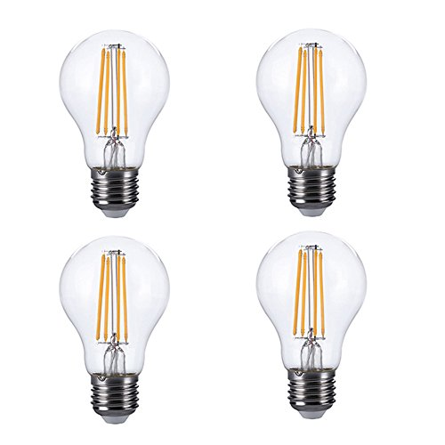 Kanzd LED Lamp E26 120V LED Bulb LED Bulb Actual Power 6.5W Warm Lamp Lampada (4PCS)