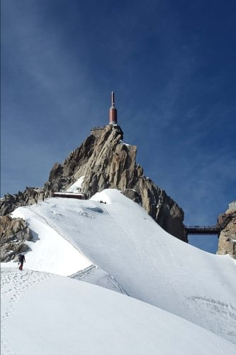 Aiguille Du Midi Chamonix Mountain Station Mont Blanc France Journal: 150 page lined notebook/diary