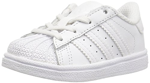 adidas Originals Kids' Superstar I Sneaker, White/White/White, 9 Medium US Toddler