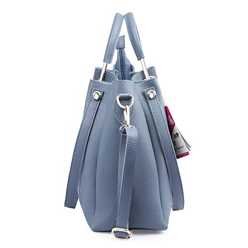 Fiesto Fashion PU Leather Handbags with Sling Bag for Women Large Shoulder Tote Purse Top Handle Satchel (Combo of 3)