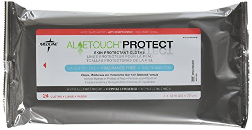 Medline Aloetouch Protect Dimethicone Skin Protectant Wipes, 24 Count ( Pack of 24 )