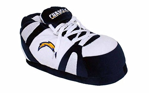 Nfl Comfy Feet - Comfy Feet LCG01-5 - Los Angeles Chargers - 2XL - Happy Feet NFL Slippers