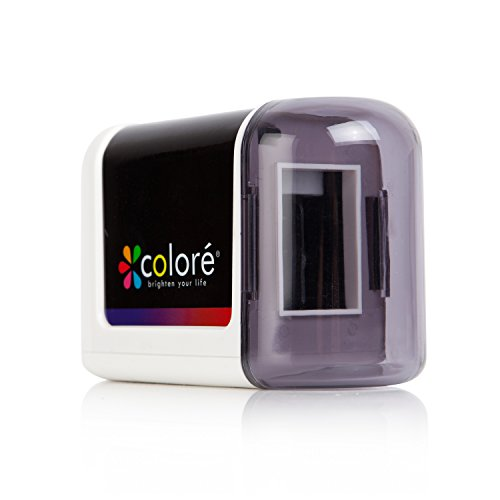 Colore Electric Pencil Sharpener - Powerful, Small, Battery...