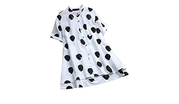 Amazon.com: Womens Shirt, Sharemen3/4 Solid Color Large Size Shirt Cotton and Linen Loose Casual T-Shirt(White,3XL): Clothing