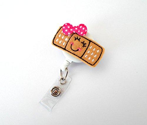 Babbi the Bandage - Retractable Badge Reel - Name Badge Holder - Pediatric Badge Holder - School Nurse Badge - Felt Badge - RN Badge Holder - Gift for Her
