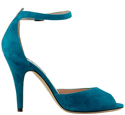 Turquoise Heels Toe Sarah Suede Jessica Open By Sjp teal Marquee Parker Women's xzB48nwqa