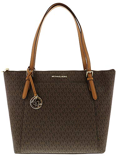 Michael Kors Women's Ciara - Large East West Top Zip Tote No Size (Brown/Acorn)