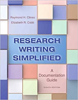 Book Research Writing Simplified: A Documentation Guide (8th Edition) by Raymond H. Clines (2014-03-07)