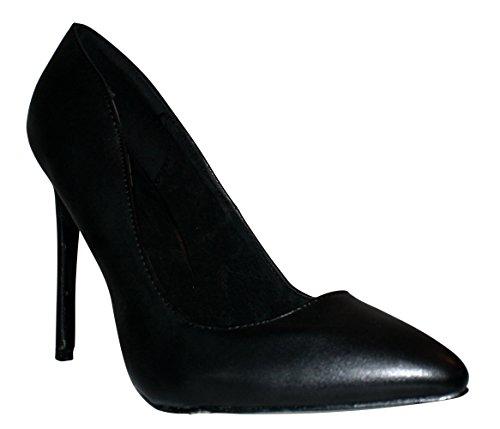 Erogance Black tacco Lack col donna Nappa Heels High Pumps Scarpe rFrwx1UqT