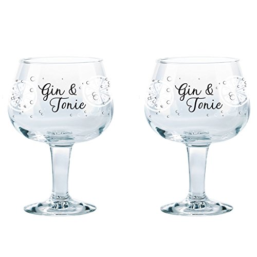 (Durobor Gusto Decorated Spanish Balloon Copa Gin and Tonic Glasses, 660ml - Set of)