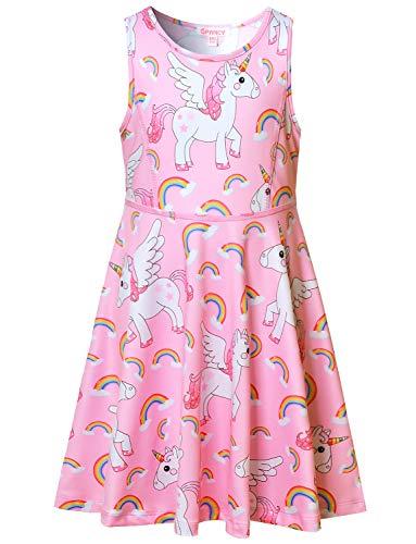 (Unicorn Dresses for Girls 7-16 Sleeveless Unicorn Outfits)