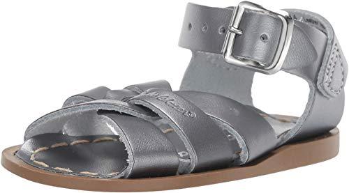 Salt Water Sandals by Hoy Shoes Baby Girl's The Original Sandal (Infant/Toddler) Pewter 5 M US Toddler