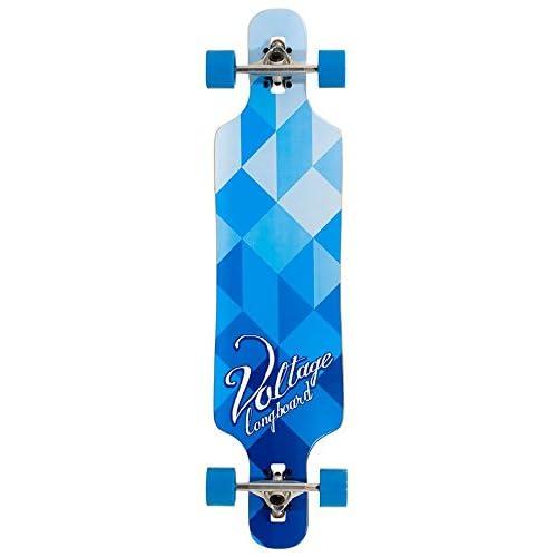 Tension DropThru Longboard Bleu/blanc