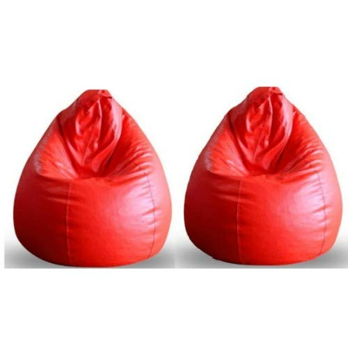 CADDYFULL XL Bean Bag Without Beans  Red   Pack of 2