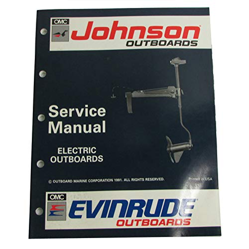 OMC Johnson Evinrude OEM Electric Outboards Service Manual 1992, 0508140