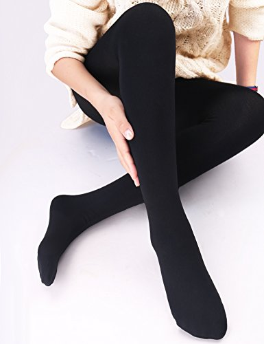VERO MONTE Womens Opaque Warm Fleece Lined Tights - Thermal Winter Tights
