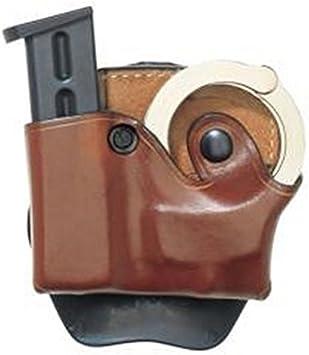Aker Leather A618BPRU Black DMS Flashlight//Cuff Case Cowhide Right Hand