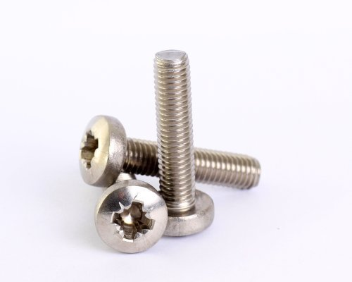 Bolt Base 3mm A2 Stainless Steel Posi Pozi Pan Head Machine Screws Bolts M3 X 5 - 100 by Bolt Base