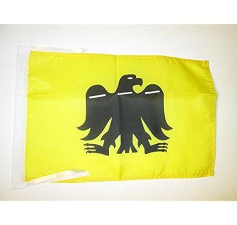 AZ FLAG Bandera del Pais Vasco ARRANO BELTZA 45x30cm - BANDERINA Vasca Aguila Negra 30 x 45 cm cordeles: Amazon.es: Hogar