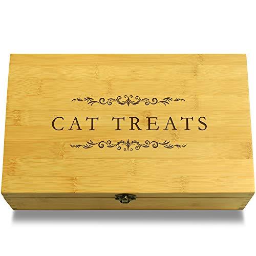 Kitty Treats Cookbook - Cookbook People Cat Treats Pet Treats Multikeep Box - Memento Sustainable Bamboo Adjustable Organizer