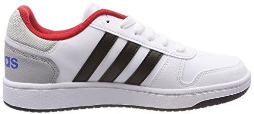ftwbla negbas 000 De 0 Unisex Blanco Niños Zapatillas 2 Adidas Deporte K escarl Hoops 1x6pyqPv