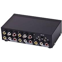 E-SDS 1 In 4 Out RCA AV Audio Video Splitter for Cable Box DVD DVR Analog TV