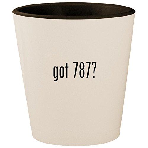 (got 787? - White Outer & Black Inner Ceramic 1.5oz Shot Glass)
