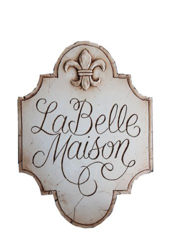 French Decor Sign La Belle Maison - shabby chic wall art