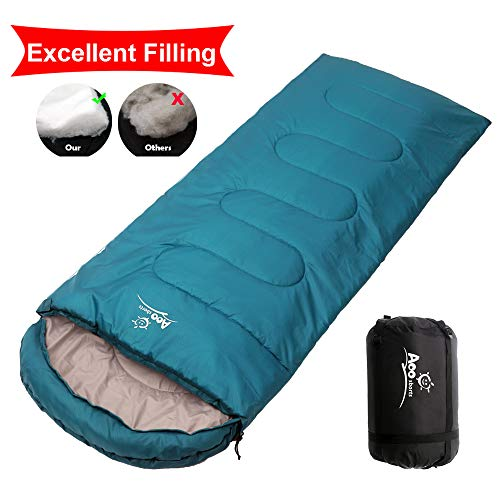 Camping Sleeping Bag, Waterproof Envelope Lightweight Portable Sleeping Bags Great For 4 Season Traveling, Camping, Hiking, Backpacking and Outdoor Activities For Adults, Kids, Girls and -