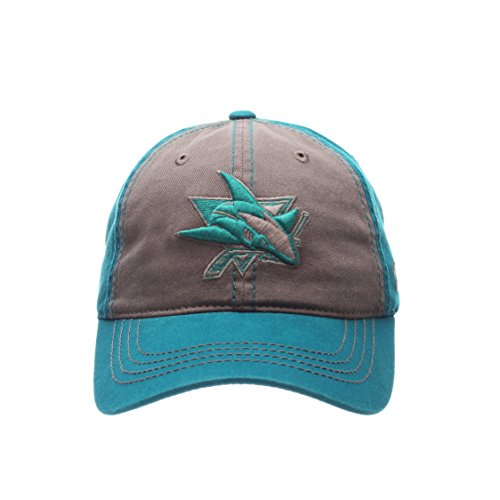 NHL San Jose Sharks Men's Storm Front Strap Back Hat, Adjustable, Multicolor (San Jose Hats)