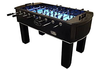 Amazoncom The Neon Foosball Table In Black With Light Up Playfield - Foosball table light