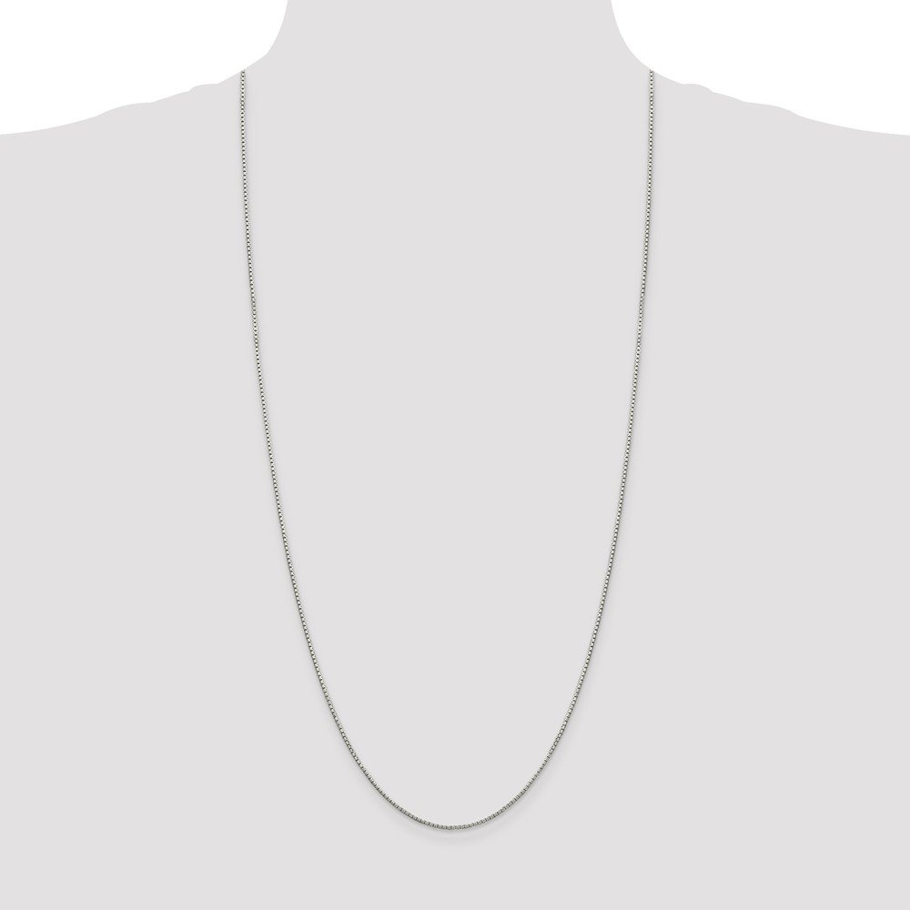 925 Sterling Silver 1.35mm 8 Side Link Box Chain Necklace 18 Inch Pendant Charm Octagonal Fine Jewelry For Women Gift Set