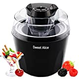 Ice Cream Maker, 1.5 Quart Automatic Frozen Yogurt, Sorbet, and Ice Cream Machine, Auto Shut-off Timer Function BPA-free Frozen Dessert Machine