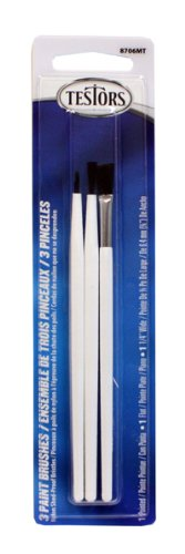 Testors 8706MT Nylon Paint Brush, Set of 3