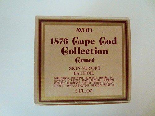 The 1876 Cape Cod Collection - Cruet Empty No Bath OIL -  Avon