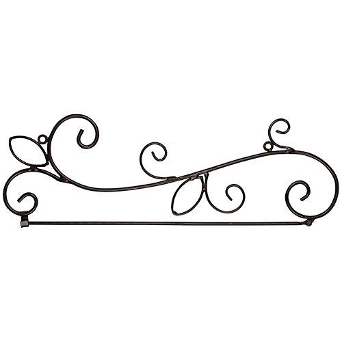 - Carson Flag Wall Hanger w/Scrolls 60779 Black 5.25
