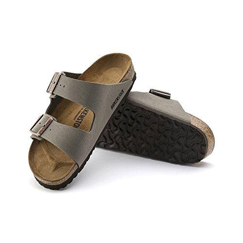 Birkenstock Arizona Stone Birkibuc Sandal 39 N (US Women's 8-8.5) by Birkenstock (Image #3)